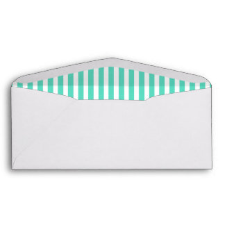 Tiffany Aqua Blue Sailor Stripes Envelope