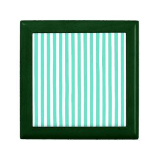 Tiffany Aqua Blue Sailor Stripes Keepsake Boxes