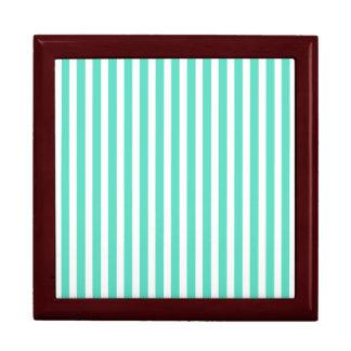 Tiffany Aqua Blue Sailor Stripes Gift Box