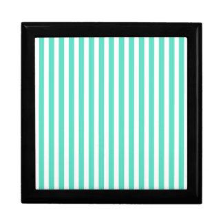 Tiffany Aqua Blue Sailor Stripes Trinket Boxes