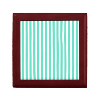 Tiffany Aqua Blue Sailor Stripes Jewelry Box