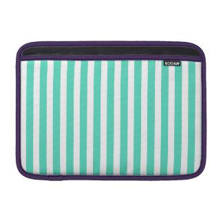 Tiffany Aqua Blue Sailor Stripes MacBook Air Sleeve