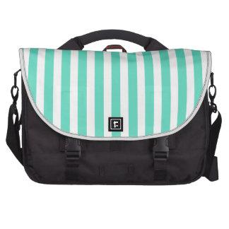Tiffany Aqua Blue Sailor Stripes Computer Bag
