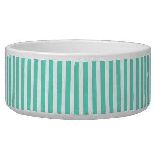 Tiffany Aqua Blue Sailor Stripes Dog Water Bowls