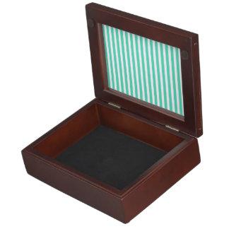 Tiffany Aqua Blue Sailor Stripes Keepsake Box