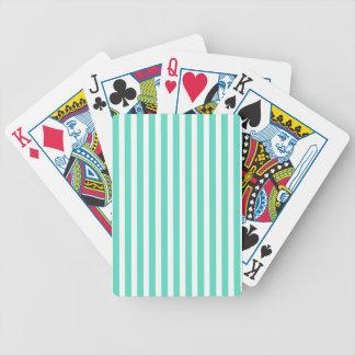 Tiffany Aqua Blue Sailor Stripes Bicycle Playing Cards