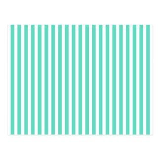 Tiffany Aqua Blue Sailor Stripes Post Cards