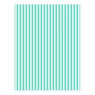 Tiffany Aqua Blue Sailor Stripes Postcards