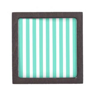 Tiffany Aqua Blue Sailor Stripes Premium Gift Boxes