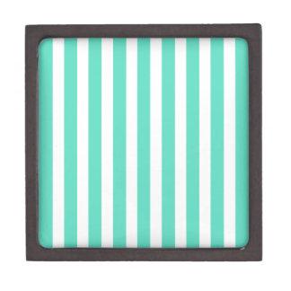 Tiffany Aqua Blue Sailor Stripes Premium Keepsake Box