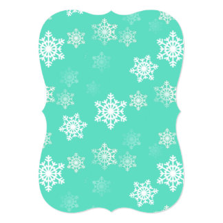 Tiffany Aqua Blue Snow Flurries Card