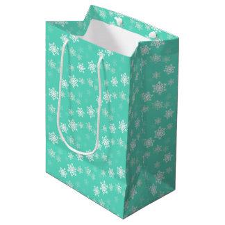 Tiffany Aqua Blue Snow Flurries Medium Gift Bag