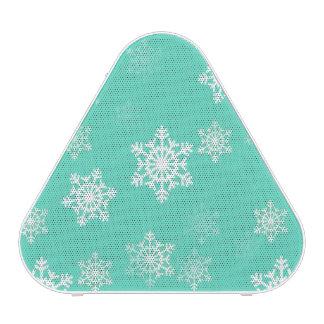 Tiffany Aqua Blue Snow Flurries Speaker