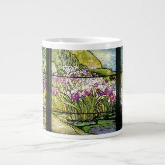 Tiffany Art Nouveau Iris Flowers Jumbo Mug