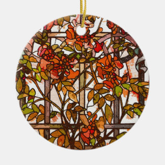 Tiffany Art Nouveau Stained Glass Ornament