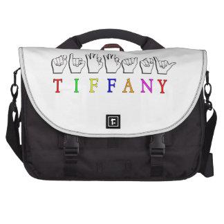 TIFFANY  ASL FINGERSPELLED NAME SIGN BAG FOR LAPTOP