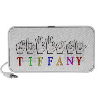 TIFFANY  ASL FINGERSPELLED NAME SIGN PORTABLE SPEAKER