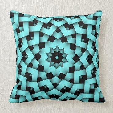 McTiffany Tiffany Aqua Tiffany Baby Blue Star Circle Petal Pattern Pillow