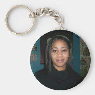Tiffany Basic Round Button Keychain