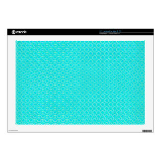 Tiffany Blue and Cream Interlocking Circles Decal For Laptop