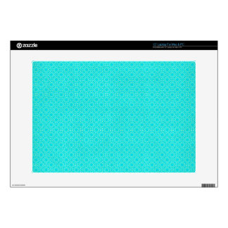 Tiffany Blue and Cream Interlocking Circles Decals For Laptops