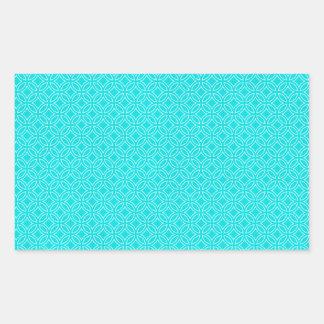 Tiffany Blue and Cream Interlocking Circles Rectangular Sticker