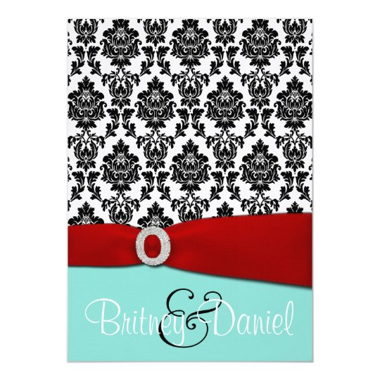 Tiffany Blue and Red Wedding Invitations – Tiffany Blue and Red Wedding Invitations