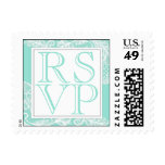 Tiffany Blue and White Lace RSVP Stamp