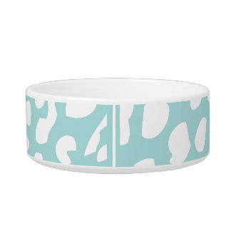 Tiffany Blue and White Leopard Pet Bowl