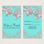 Tiffany Blue Big White Bow Diamonds Refer a Friend Business Card