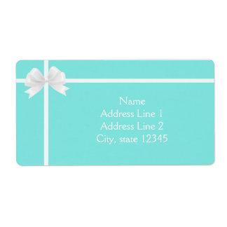 Tiffany Blue Diamond Bow Box Elegant Labels