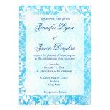 Tiffany Blue Distresed Damask Wedding Invitations