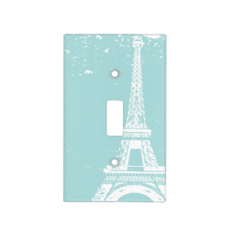 Tiffany Blue Eiffel Tower Light Switch Cover