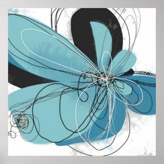 Tiffany Blue Flower Poster