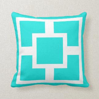 tiffany blue geometric pillow