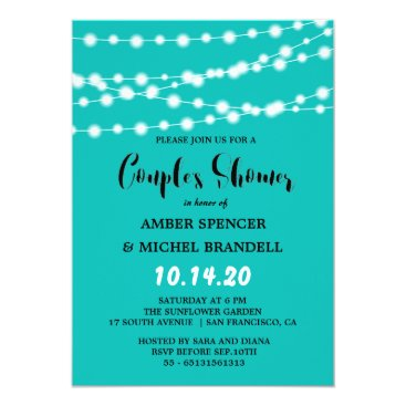 McTiffany Tiffany Aqua Tiffany Blue Glowing String Light Couple's Shower Card