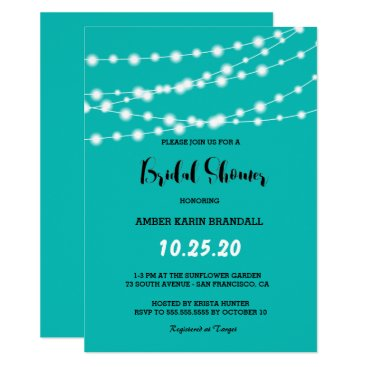 McTiffany Tiffany Aqua Tiffany Blue Glowing String Lights Bridal Shower Card