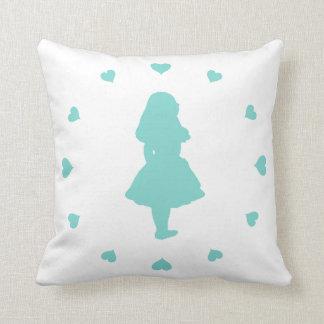 Tiffany Blue Hearts Around Alice Pillows