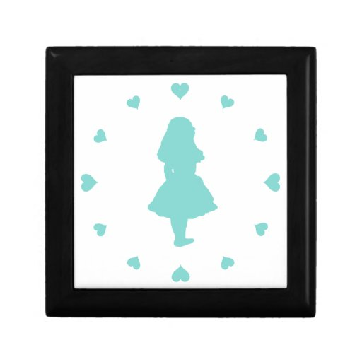 Tiffany Blue Hearts Around Alice Trinket Boxes