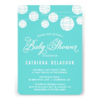 Tiffany Blue Lantern Baby Shower Invitation