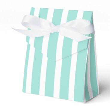 McTiffany Tiffany Aqua Tiffany Blue Mint Stripes - Turquoise Mint Wedding Favor Box