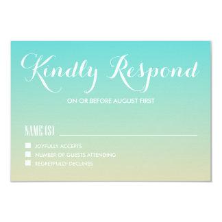 Tiffany Blue Ombre Wedding RSVP Card Custom Announcements