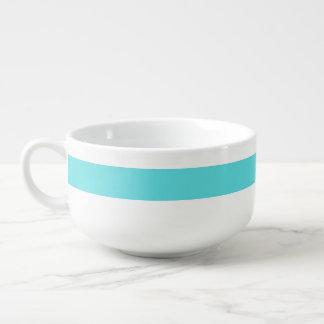 Tiffany Blue Personalized Striped Soup Bowl Soup Mug