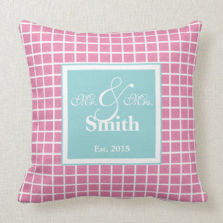 """Tiffany Blue & Pink Polyester Throw Pillow 20""""x20"""""""