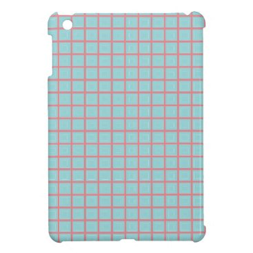 McTiffany Tiffany Aqua Tiffany Blue & Pink Tile Pattern (Trois Carrés) Cover For The iPad Mini
