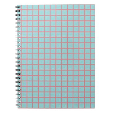 McTiffany Tiffany Aqua Tiffany Blue & Pink Tile Pattern (Trois Carrés) Notebook