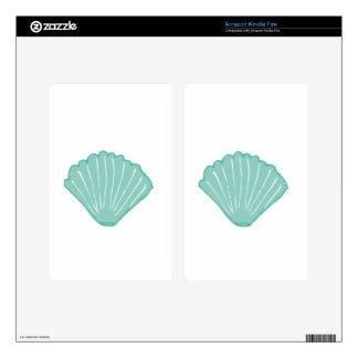 Tiffany Blue Seashell Illustration Kindle Fire Skin