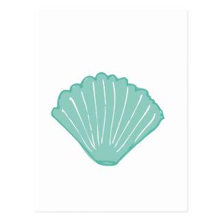 Tiffany Blue Seashell Illustration Postcard