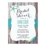 Tiffany Blue Seashells Beach Theme Bridal Shower 5x7 Paper Invitation Card