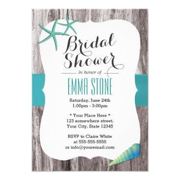myinvitation Tiffany Blue Seashells Beach Theme Bridal Shower Card